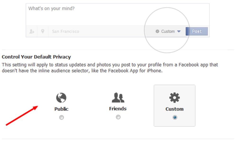 تنظیمات فیس بوک