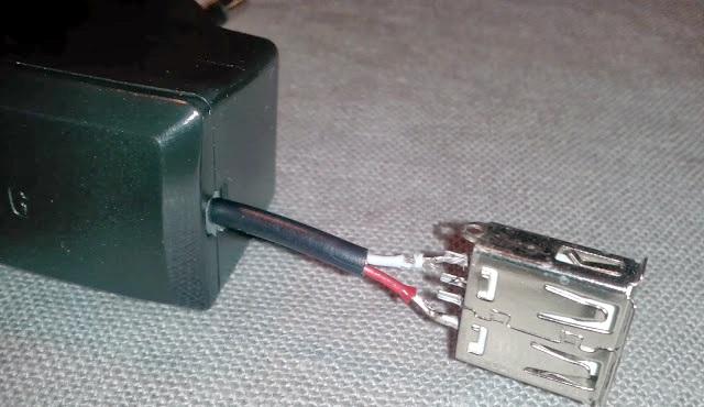 شارژر متصل به یو اس بی