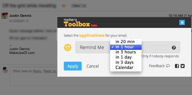 آگاه شدن از پاسخ داده شدن ایمیل