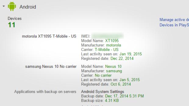 Find_IMEI_Google Dashboard_rubah